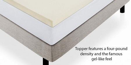 Memory Foam Mattress Pad Bed Topper