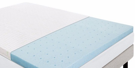 LUCID 2.5 Inch Gel Infused Ventilated Memory Foam Mattress Topper